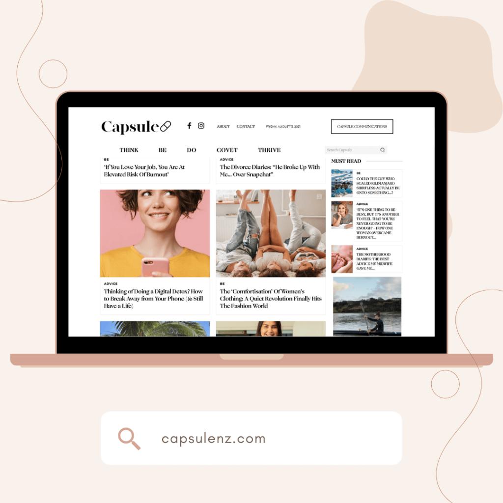 Capsule NZ website